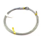 "AC3/32-[XX]G-L3/32"" Galvanized cable w/ 1"" Loop"