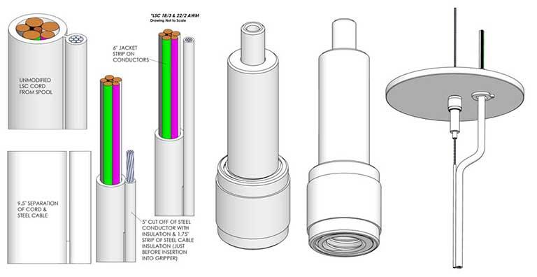 Lighting Suspension Cord