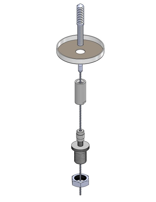 Non-Feed Lag Screw Wood Mount BE