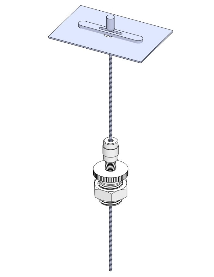 Non-Feed Steel Deck Mount Example